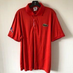 Men's Lacoste Red Polo Miami Open Edition Size 5